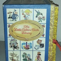 The Little Golden Book Library 4 Book Cased Set Golden Favorites Bedtime Stories Our Wonderful World Fairy Tales and Rhymes