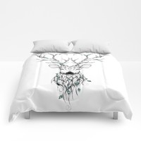 Poetic Deer Comforters by LouJah