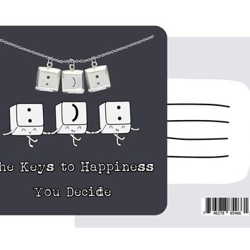 Denise Delightful Happiness Necklace with Inspirational Quote