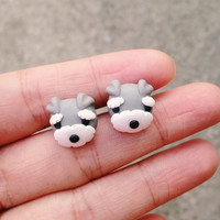 Lovely Handmade Schnauzer Earrings