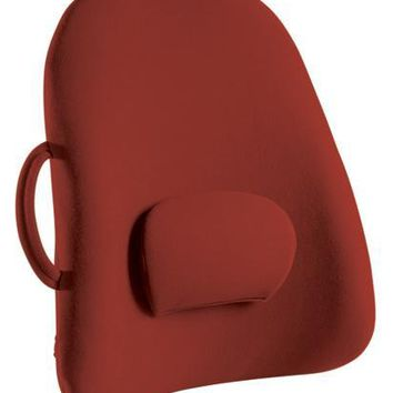 Complete Medical Lowback Backrest Support Obusforme Burgundy  (Bagged)