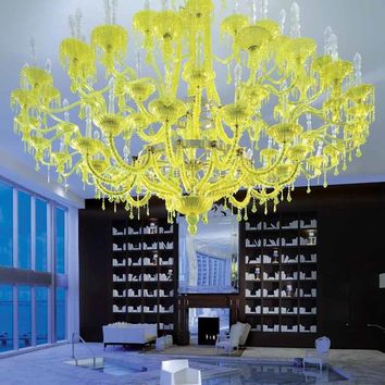 Handmade blown glass chandelier CHAMOMILLA Contemporary & Sculptural Lighting Collection by Lasvit | design Philippe Starck