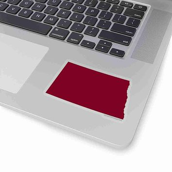 North Dakota State Shape Sticker GARNET