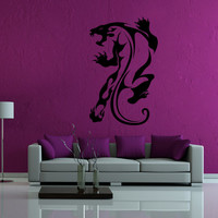ik43 Wall Decal Sticker Room Decor Wall Art Mural panther tiger Leopard Animal living room bedroom interior