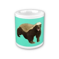 Honey Badger Don't Care Mint Green Coffee Mug