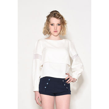 White Layered Ladies Top