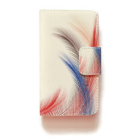 LG G4 Wallet Feathers Pastel G4 Wallet Case Vintage For LG G4 Romantic LG G4 Wallet Retro Red Black Blue L555
