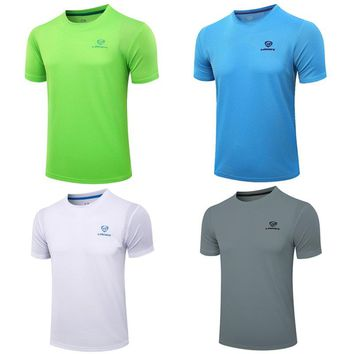 Outdoor sports running men's T-shirt bodybuilding fitness quick-drying breathable shirt O-neck compression shirt T-shirt