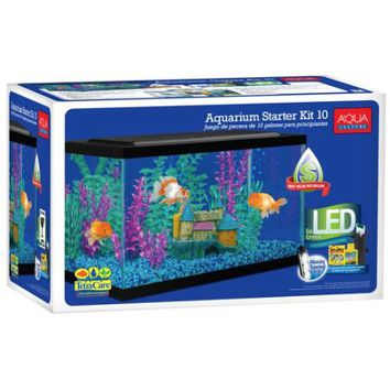 Aqua Culture 10-Gallon Aquarium Starter Kit - Walmart.com