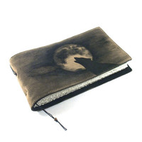 Full Moon, Journal, Leather, Handmade, Notebook