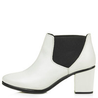 MADNESS Leather Chelsea Boots - White