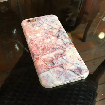 Womens Pink Marble iPhone 6 6s Plus creative case Gift-132