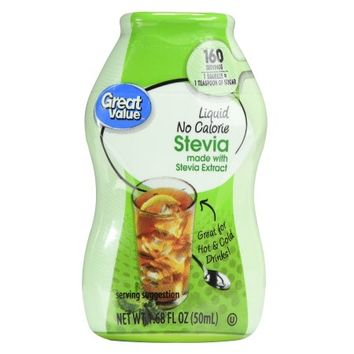 Great Value Liquid No Calorie Stevia Sweetener, 1.68 fl oz - Walmart.com