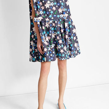 Oversized Printed Cotton Dress - Delpozo | WOMEN | US STYLEBOP.COM