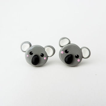 Cute Polymer Clay Koala Earrings