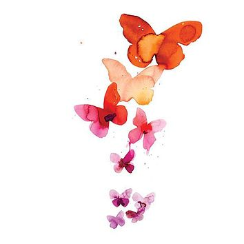 Coral Butterflies by Stina Persson from Tattly Temporary Tattoos