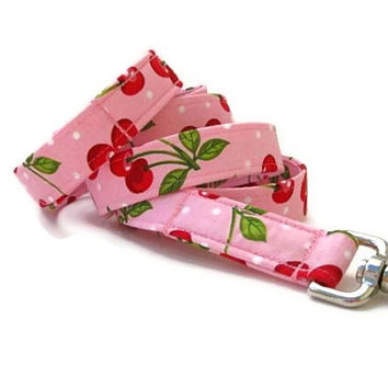 Pink Dog Leash - Cherry Smoothie - 6 Foot Length