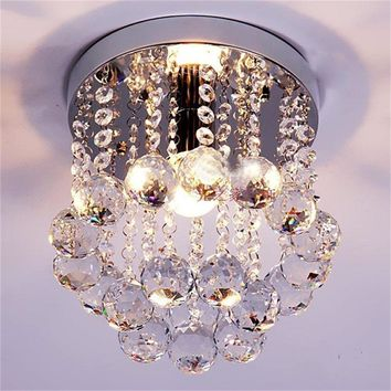 Silver Crystal Drops Chrome Light Chandelier Fitting Lamp