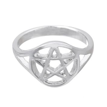 Dawapara bulgaria punk wicca pentagram ring jewelry Star one female antique men fashion male rings for women dropship suppliers