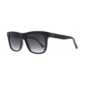 Gucci GG0158S 001 Black GG0158S Square Sunglasses Lens Category 3 Size 54mm