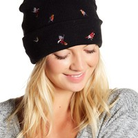 David & Young | Bird Embroidered Fisherman Beanie | Nordstrom Rack