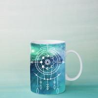 Moon Phase Mug -  Boho Gypsy Starchild Mug | Blue Cosmos Coffee Mug Gift | Unique Mug | Bohemian Gift for her, sister, girlfriend, birthday