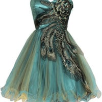 Embroidered Style Tulle Homecoming Dress