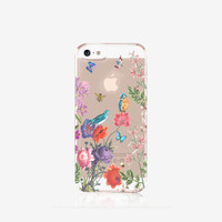 Fall iPhone Case Clear Floral iPhone 6 Case Clear Case Vintage Floral iPhone Case Clear iPad Mini 3 Case Clear Samsung S6 Case Autumn Garden