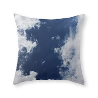 Society6 Blue Skies Throw Pillow