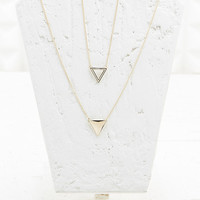 Two-Way Triangle Infinity Necklace in Gold - Urban Outfitters