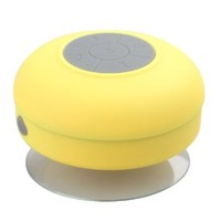 AmoVee Waterproof Bluetooth Wireless Shower Speaker Portable Speakerphone - Yellow, shipping from USA