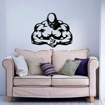 Bodybuilder Fitness Model Man Sport Sportsman Gym Wall Vinyl Decal Sticker Housewares Design Art Murals Interior Decor Home Bedroom SV5183