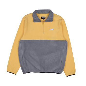 Castanza 3/4 Zip Up (Yellow & Charcoal) | RIPNDIP