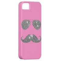 Funny Diamond Mustache With Glasses iPhone 5 Case from Zazzle.com