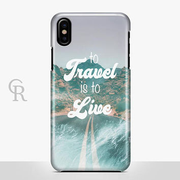 Travel iPhone X Case For iPhone 8 iPhone 8 Plus - iPhone X - iPhone 7 Plus - iPhone 6 - iPhone 6S - iPhone SE - Samsung S8