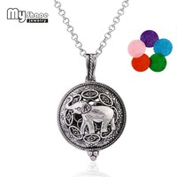 my shape Jewelry Accessories Health Care Magnet Diffuser Necklace Essential Oil Animal Elephant Small Petals Pendant Necklaces