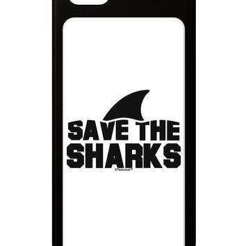 Save The Sharks - Fin iPhone 5 / 5S Grip Case  by TooLoud