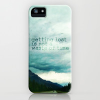 getting lost is not a waste of time iPhone & iPod Case by Sylvia Cook Photography