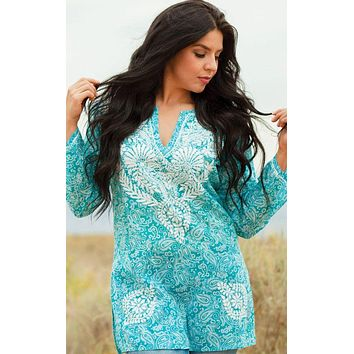 Manali Embroidered Cotton Tunic Top