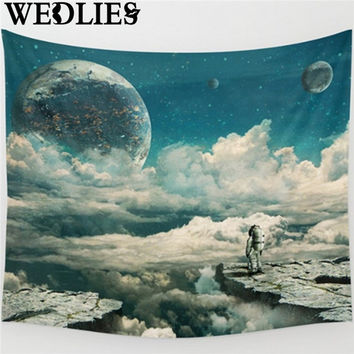 Moon Polyester Wall Hanging Tapestry Indian Bedspread Beach Towel Dorm Throw Blanket Yoga Mat Picnic Cloth Home Decor Textiles