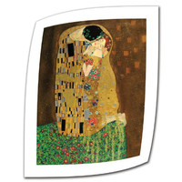 Art Wall The Kiss 12 by 16-Inch Rolled Canvas Art by Gustav Klimt with 2-Inch White Accent Border