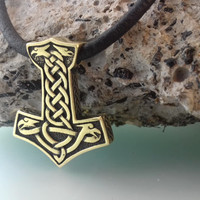 Thor's Hammer Mjolnir Pendant Scandinavian Jewelry Necklace Mjölnir Viking Amulet, Gift for men, Gift for woman