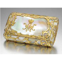 A rare Fabergé mother-of-pearl cigarette case with two-colour gold mounts, workmaster Michael Perchin, St Petersburg, circa 1890 | Lot | Sotheby's
