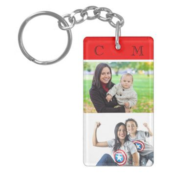 Custom, double sided, 2 photo key chain. keychain