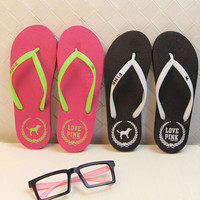 2016 New Cute Puppy Mujer Slippers Flat Sandals Women Candy Colored Women Summer Beach Slippers Sandals Flip Flops Home Slippers