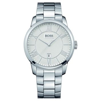 Hugo Boss 1512976 Men's Silver Dial Stainless Steel Bracelet Date Watch