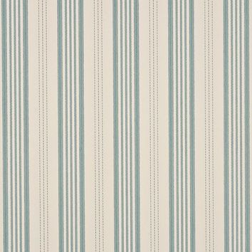 Mulberry Wallpaper FG067.J81 Narrow Ticking Stripe Ivory/Aqua