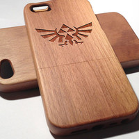 ZELDA TRIFORCE Wooden iPhone 4/4s iPhone 5/5s case walnut bamaboo wood iphone case