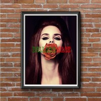 Lana Del Rey Red Flower  Photo Poster 16x20 18x746
