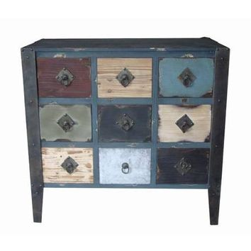 Stylish And Vintage Themed Wood Dresser Cabinet